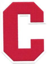 """6 """" Pouce Grand Rouge sur Blanc Bloc Letterman's Varsity Lettre C Feutre"""