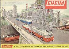 catalogo EHEIM 1965 Modellspielwaren HO Trolleybus Seilschwebebahn Pumpen  D  aa