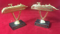 Carnival Cruise Paradise & Miracle Souvenir Award Trophies