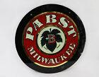 Antique PABST Milwaukee Glass Beer Sign BEST Leaf Logo 30s Prohibition Era Bar