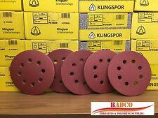 "125mm 5"" Sanding Discs / Sandpaper Vecro KLINGSPOR - Wood Paint Varnish Filler"