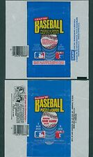 1986 DONRUSS & DONRUSS LEAF BASEBALL WRAPPERS / LOT OF 2 - NO RIPS OR TEARS