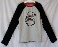 Boys Next Grey Santa Claus Father Xmas Textured Long Sleeve PJ Top Age 12 Years