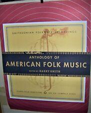 AMERICAN FOLK MUSIC Anthology Of Original Promo Poster Smithsonian Recordings