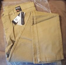 New Men's Timber/Beige Galaxy by Harvic Slim Fit Pant Size W34/L32