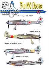 EagleCals Decals 1/72 FOCKE WULF Fw-190D DORA Fighter w/Captured Russian Version
