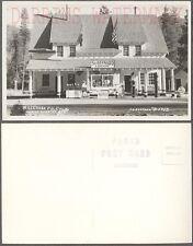 Vintage Photo Postcard St Bernard Lodge & Gas Station Mill Creek CA 768227