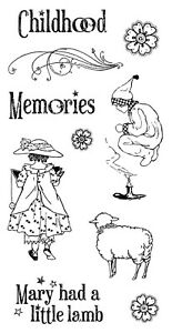 Graphic 45 Mother Goose Cling Stamp Set #3 Nursery Rhyme Childhood