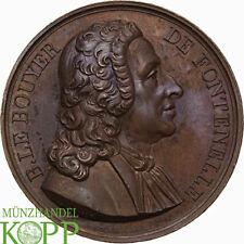 Ab1000) francia medalla de bronce 1819 B. le Bouyer de Fontenelle