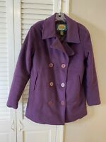 Cabelas Women's Wool Cashmere Blend Double Breasted Coat/Jacket Size Large