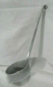 Vintage Aluminum Water Dipper Ladle with Riveted Handle Hole for Hanging 1 Cup