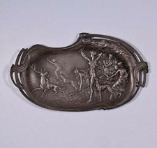 Antique Art Nouveau Silver Plated Tray/Wall Decor with Diana the Huntress by WMF