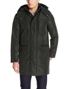Cole Haan Signature Mens Jacket Black Size XL Windbreaker Bond Hooded $295 #132