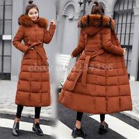 Warm Lange Baumwollen Jacket Damenmode Daunejacket Mantel Winter Kapuzemantel