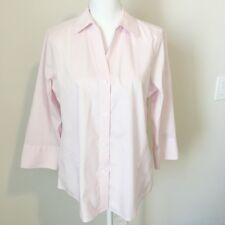 Foxcroft NYC Blouse M Non-Iron Stretch Easy Care Poplin Shirt Size Medium