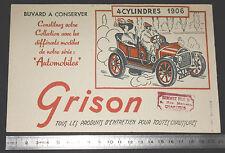 BUVARD 1950 GRISON ENTRETIEN CHAUSSURES AUTOMOBILE AUTO 4 CYLINDRES 1906