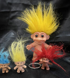 Small Lot Of Trolls Including Keychain Miniatures