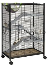 LIBERTA PIONEER FERRET RAT CHINCHILLA 4 STOREY 3 PLATFORM METAL CAGE ON WHEELS