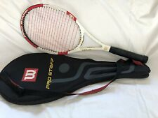 Wilson Blx Pro Staff 90 Federer 4 1/2 grip New Strings with case