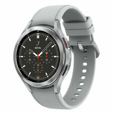 Samsung Galaxy Watch4 Classic SM-R890 46mm Stainless Steel Case with Ridge-Sport Band - Silver (Bluetooth) (SM-R890NZSAXAA)