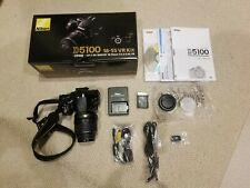 Nikon D5100 DSLR Camera Kit With Hoya Filter, Extra Battery, Carrying Case used