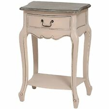 French Country Grey Fully Assembled Furniture Wood 1 Drawer Hall Bed Side Table
