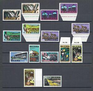 NIGERIA 1973-74 SH 280/9, 280a, 288a + Shades MNH Cat £39