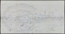 """Unique Star Trek Enterprise-E Original Blueprints 1996 30""""x57"""" NM 9.0"""