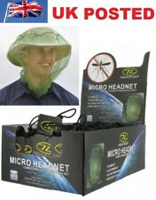 NATO APPROVED HIGHLANDER MOSQUITO / MIDGE HEAD NET HAT- FINE POLY MICRO MESS
