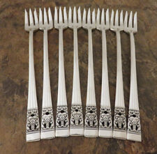 Oneida Coronation Set of 8 Cocktail Forks Community Silverplate Flatware Lot N
