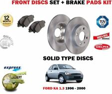 Ford Ka 1.2 MK2 noviembre de 2008 a 2017 2 Delantero Discos De Freno Discos Set sólido
