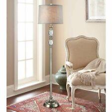 Bouche Crystal Floor Lamp By Bridgeport Designs, Dark Brushed Steel Base
