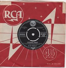 ELVIS PRESLEY wooden heart*tonight is so right for love 1960 UK RCA SILVER SPOT