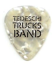 Tedeschi Trucks Single-Sided White Pearl Guitar Pick #2 - 2019 Tour