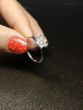 Engagement & Wedding Woman Ring Moissanite Diamond Solid 925 Sterling Silver
