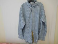 Brooks Bros Men Plaid Aqua Slim Fit Shirt -  Double Extra Large 2XL NEW