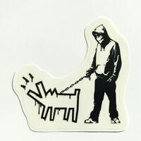 Banksy Sticker on CLEAR VINYL Kids Gun Hills Decal Street Art Girl Boy Balloon