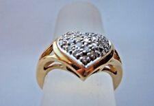 PAVE DIAMOND HEART RING 14K YELLOW GOLD