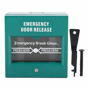 Emergency Door Release Break Glass Unit Green Fire Alarm Access Control Doors