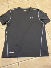 Men's Under Armour Black Heatgear Fitted Short Sleeve T Shirt Size Xl