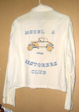 VINTAGE 100% COTTON EMBROIDERED 1931 MODEL A RESTORERS CLUB JACKET-XL !