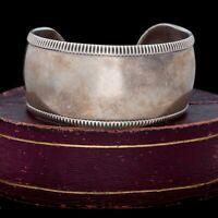 Antique Vintage Deco Mid Century Sterling Silver TAXCO HUGE Cuff Bracelet 41.2g