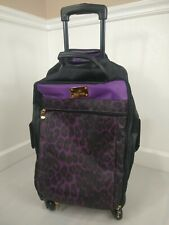 JOY Mangano Safari Chic Color Purple Print Luggage Travel Light Weight TuffTech