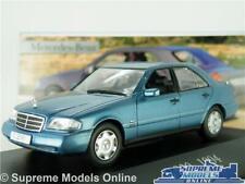 MERCEDES BENZ C200 MODEL CAR BLUE 1994 C 200 1:43 SCALE SALOON IXO COLLECTION K8