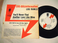 """LOU RAWLS You'll Never Find Another Love Like Mine 7"""" Promo"""