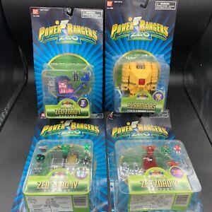 Power Rangers Zeo Micro Zeo Zord I, Zeo Zord IV, Zeo Zord V, & Pyramidas NEW