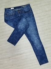 GAP 1969 ALWAYS SKINNY FLORAL PRINT Sz 26 LOW STRETCH JEANS ACTUAL 30X29 EUC G6