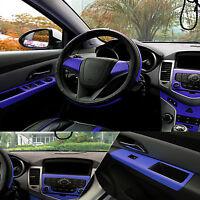 "Blue Carbon Fiber Texture Decal 15""x39"" Dashboard Vinyl Wrap Decorative Sticker"