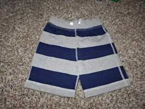 NWOT NEW HANNA ANDERSSON 100 BLUE GRAY STRIPED BOYS SHORTS