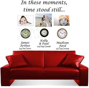 IN THESE MOMENTS TIME STOOD STILL LC WALL ART MARRIED FAMILY CHILDREN STICKER